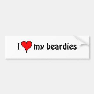 I Love My Beardies Bumper Sticker
