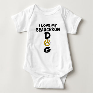 I Love My Beauceron Dog Designs Baby Bodysuit
