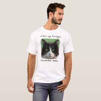 """I Love My Beautiful Tuxedo Cat"" T-shirt"