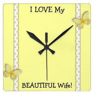 I LOVE My BEAUTIFUL Wife Wall Clock