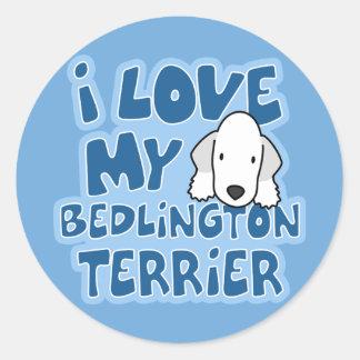 I Love My Bedlington Terrier Stickers