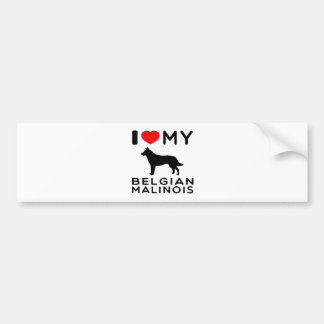 I Love My Belgian Malinois. Bumper Sticker