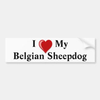 I Love My Belgian Sheepdog Dog Bumper Sticker
