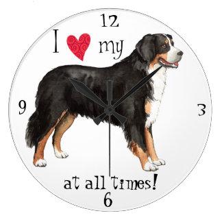I Love my Berner Large Clock