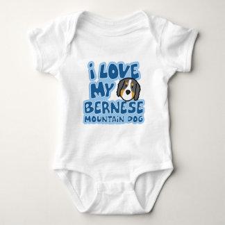 I Love My Bernese Mountain Dog Baby Creeper