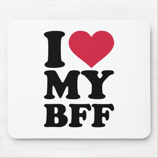 I Love My Best Friend Forever Bff Mouse Pad Zazzle