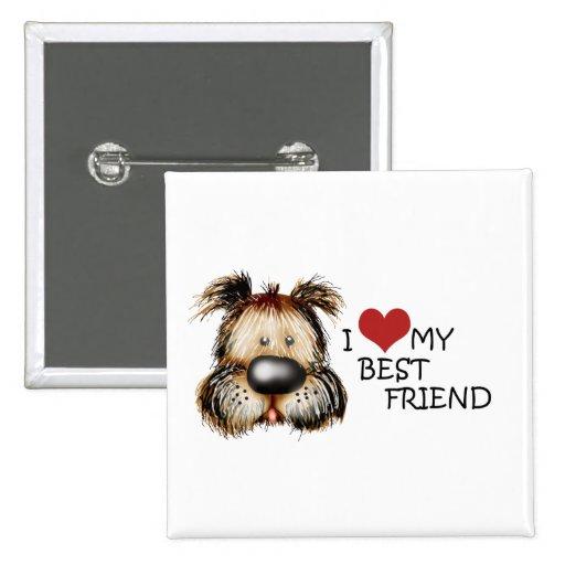I Love My Best Friend Square Button