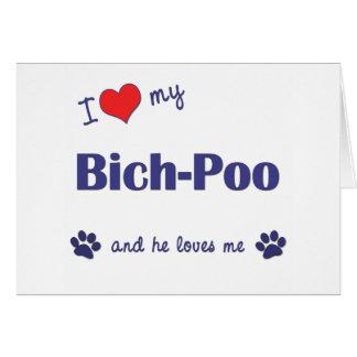 I Love My Bich-Poo (Male Dog) Greeting Card