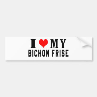 I Love My Bichon Frise Bumper Sticker