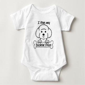 I Love My Bichon Frise Casual Apparel Baby Bodysuit