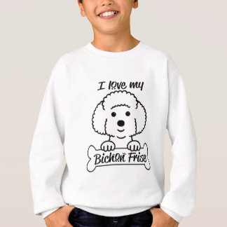 I Love My Bichon Frise Casual Apparel Sweatshirt