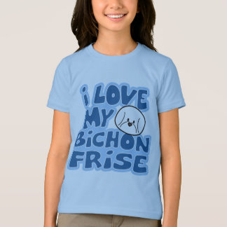I Love My Bichon Frise Girl's Ringer T-Shirt
