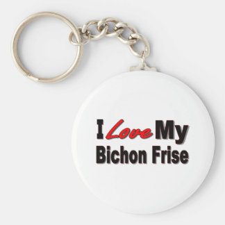 I Love My Bichon Frise Merchandise Key Ring