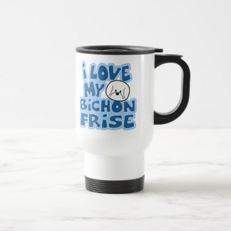 I Love My Bichon Frise Travel Mug