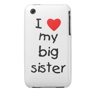 I Love My Big Sister Case-Mate iPhone 3 Case