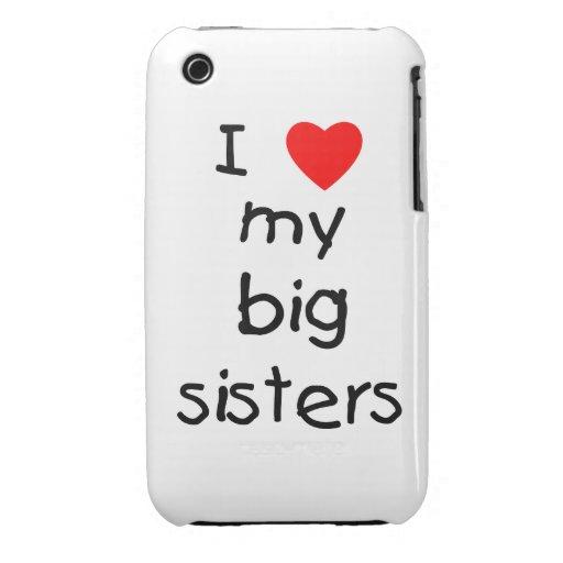 I Love My Big Sisters iPhone 3 Case-Mate Case