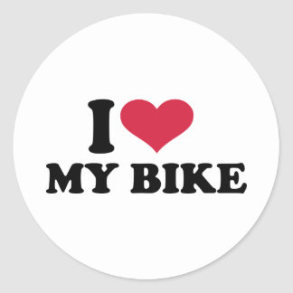 I Love my bike Bicycle Classic Round Sticker