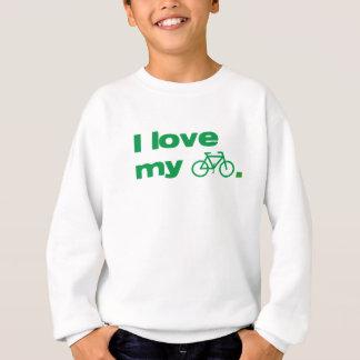 i love my bike with symbol sweatshirt