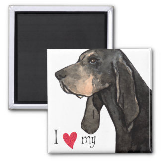 I Love my Black and Tan Coonhound Magnet