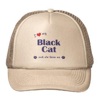 I Love My Black Cat (Female Cat) Cap