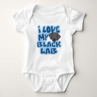 I Love My Black Lab Baby Creeper