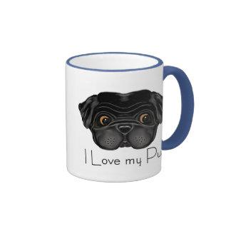 I Love my Black Pug Mug