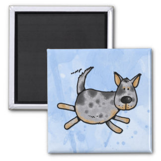i love my blue heeler l magnet
