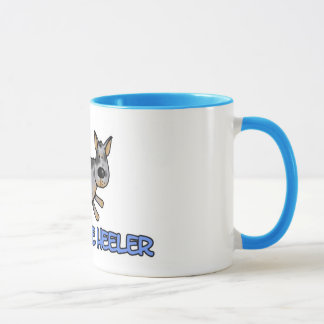 i love my blue heeler mug