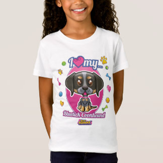 I Love My Bluetick Coonhound Apparel T-Shirt