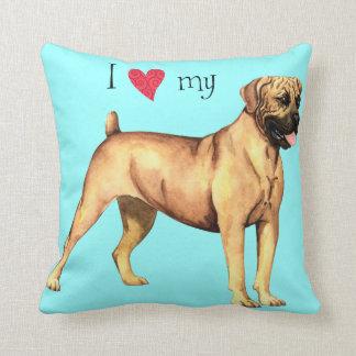 I Love my Boerboel Throw Cushions