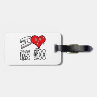 I Love My Boo Luggage Tag
