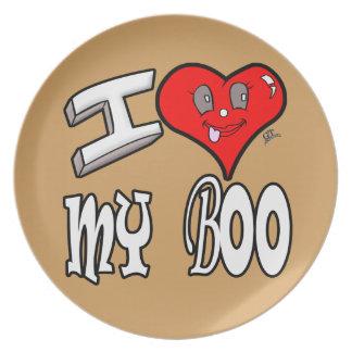 I Love My Boo Plate
