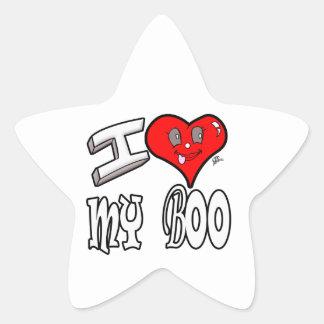 I Love My Boo Star Sticker