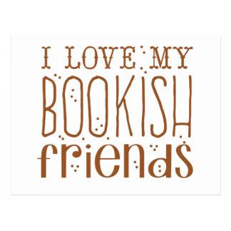 i love my bookish friends postcard