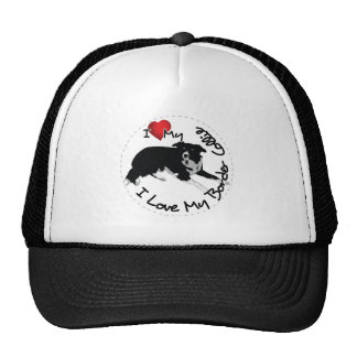 I Love My Border Collie Dog Cap