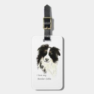 I love my Border Collie Dog Pet Animal Bag Tag