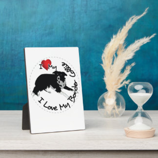 I Love My Border Collie Dog Plaques