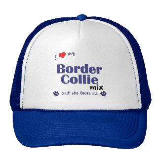 I Love My Border Collie Mix (Female Dog) Hats