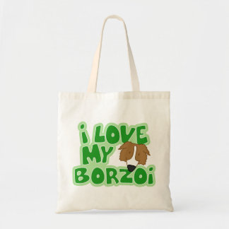 I Love My Borzoi Bag