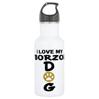 I Love My Borzoi Dog Designs 532 Ml Water Bottle