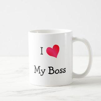 I Love My Boss Coffee Mug