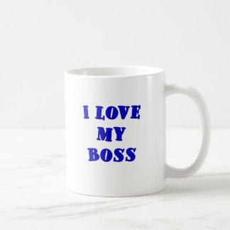 I Love My Boss Coffee Mugs