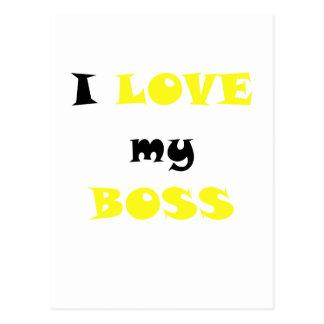 I Love my Boss Postcards
