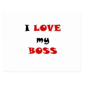 I Love my Boss Postcard