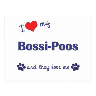 I Love My Bossi-Poos (Multiple Dogs) Postcard