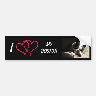 I Love My Boston Bumper Sticker