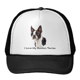 I Love My Boston Terrier Cap