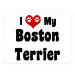 I Love My Boston Terrier Postcards
