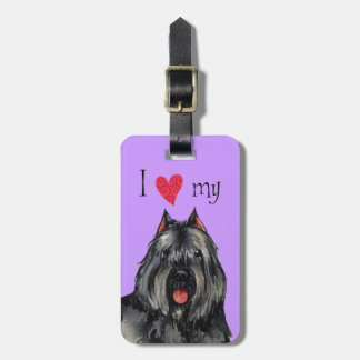 I Love my Bouvier Luggage Tag