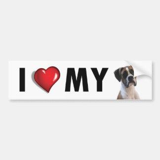 I Love My Boxer Dog Bumper Sticker